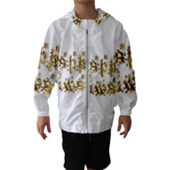 Happy Diwali Gold Golden Stars Star Festival Of Lights Deepavali Typography Hooded Wind Breaker (kids) by yoursparklingshop