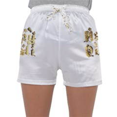 Happy Diwali Gold Golden Stars Star Festival Of Lights Deepavali Typography Sleepwear Shorts by yoursparklingshop