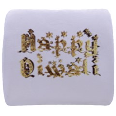 Happy Diwali Gold Golden Stars Star Festival Of Lights Deepavali Typography Back Support Cushion by yoursparklingshop