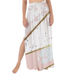 Collage,white Marble,gold,silver,black,white,hand Drawn, Modern,trendy,contemporary,pattern Maxi Chiffon Tie Up Sarong by 8fugoso