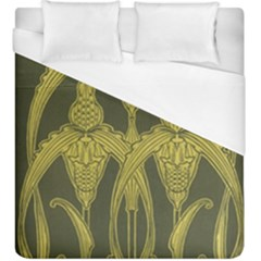 Art Nouveau Green Duvet Cover (king Size) by 8fugoso