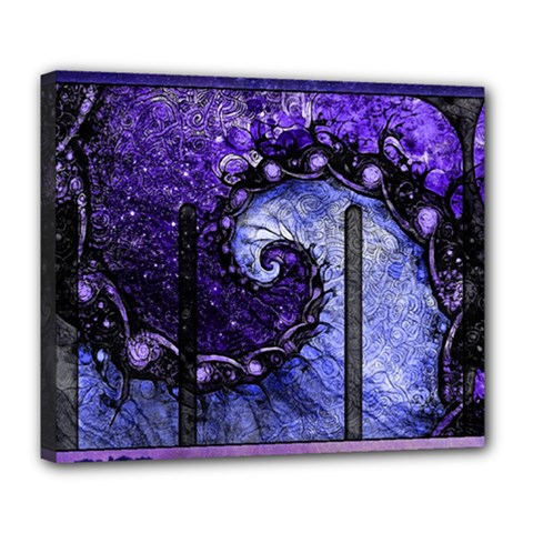 Beautiful Violet Spiral For Nocturne Of Scorpio Deluxe Canvas 24  X 20   by jayaprime