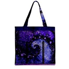 Beautiful Violet Spiral For Nocturne Of Scorpio Grocery Tote Bag by beautifulfractals