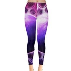 Beautiful Violet Nasa Deep Dream Fractal Mandala Leggings  by beautifulfractals