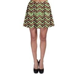 Zig Zag Multicolored Ethnic Pattern Skater Skirt by dflcprintsclothing