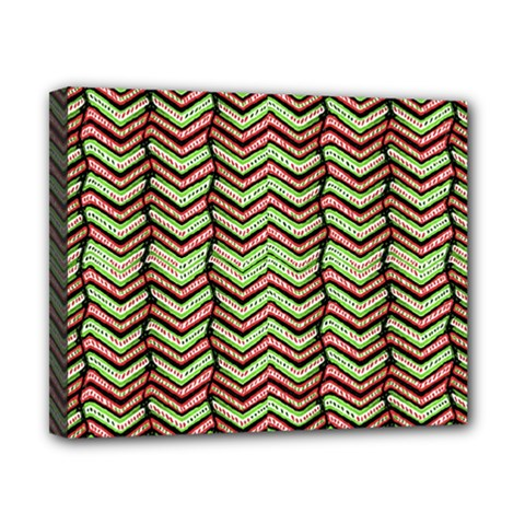 Zig Zag Multicolored Ethnic Pattern Canvas 10  X 8  by dflcprintsclothing