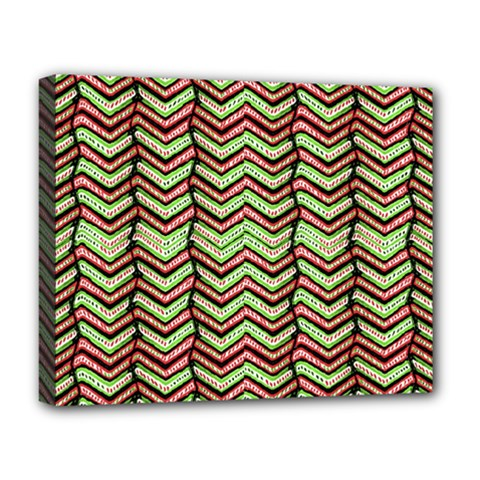 Zig Zag Multicolored Ethnic Pattern Deluxe Canvas 20  X 16   by dflcprintsclothing