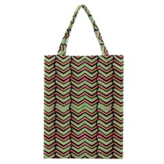 Zig Zag Multicolored Ethnic Pattern Classic Tote Bag by dflcprintsclothing