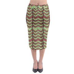 Zig Zag Multicolored Ethnic Pattern Midi Pencil Skirt by dflcprintsclothing