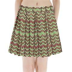 Zig Zag Multicolored Ethnic Pattern Pleated Mini Skirt by dflcprintsclothing