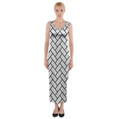 Brick2 Black Marble & White Leather Fitted Maxi Dress by trendistuff