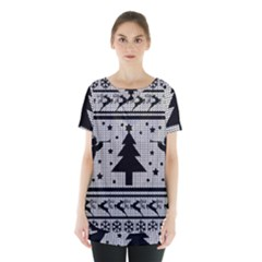 Ugly Christmas Sweater Skirt Hem Sports Top by Valentinaart