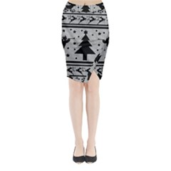 Ugly Christmas Sweater Midi Wrap Pencil Skirt
