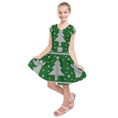 Ugly Christmas Sweater Kids  Short Sleeve Dress