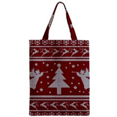 Ugly Christmas Sweater Zipper Classic Tote Bag by Valentinaart