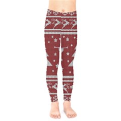 Ugly Christmas Sweater Kids  Legging by Valentinaart