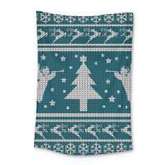 Ugly Christmas Sweater Small Tapestry by Valentinaart