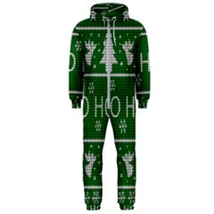 Ugly Christmas Sweater Hooded Jumpsuit (men)  by Valentinaart