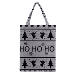 Ugly Christmas Sweater Classic Tote Bag by Valentinaart
