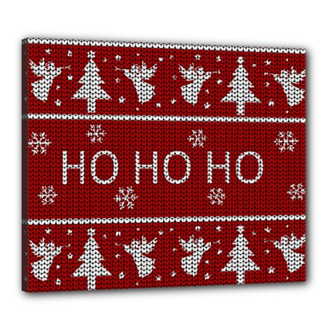 Ugly Christmas Sweater Canvas 24  X 20  by Valentinaart