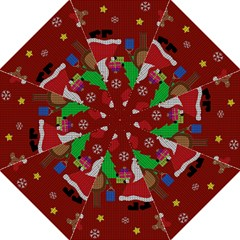 Ugly Christmas Sweater Straight Umbrellas by Valentinaart