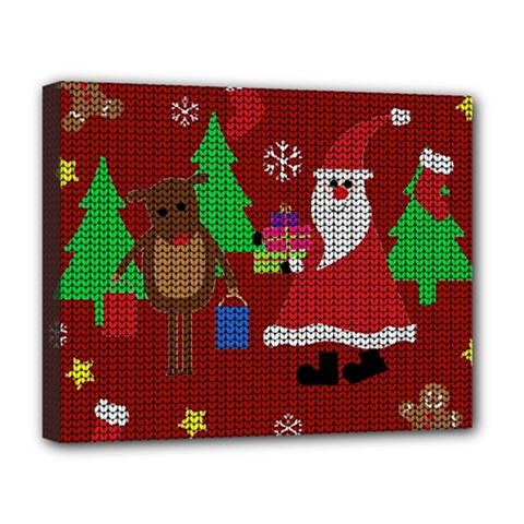 Ugly Christmas Sweater Deluxe Canvas 20  X 16   by Valentinaart