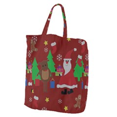 Ugly Christmas Sweater Giant Grocery Zipper Tote by Valentinaart