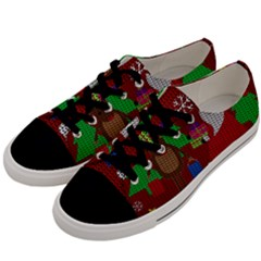 Ugly Christmas Sweater Men s Low Top Canvas Sneakers by Valentinaart
