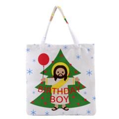 Jesus   Christmas Grocery Tote Bag by Valentinaart
