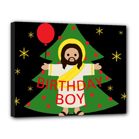 Jesus   Christmas Canvas 14  X 11  by Valentinaart