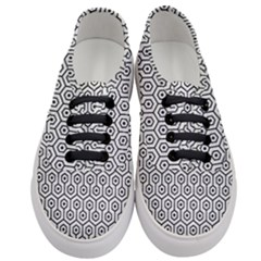 Hexagon1 Black Marble & White Leather Women s Classic Low Top Sneakers