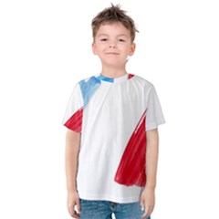 France Flag, Banner Watercolor Painting Art Kids  Cotton Tee