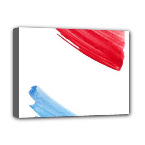 Tricolor Banner Watercolor Painting Art Deluxe Canvas 16  X 12   by picsaspassion