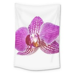 Lilac Phalaenopsis Aquarel  Watercolor Art Painting Large Tapestry by picsaspassion