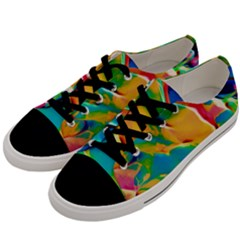 Abstract Acryl Art Men s Low Top Canvas Sneakers by tarastyle