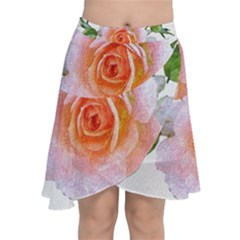 Pink Rose Flower, Floral Oil Painting Art Chiffon Wrap by picsaspassion