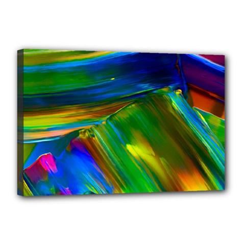 Abstract Acryl Art Canvas 18  X 12  by tarastyle