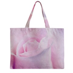 Rose Pink Flower, Floral Aquarel   Watercolor Painting Art Zipper Mini Tote Bag by picsaspassion