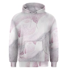 Rose Pink Flower  Floral Pencil Drawing Art Men s Pullover Hoodie by picsaspassion