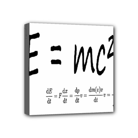 E=mc2 Formula Physics Relativity Mini Canvas 4  X 4  by picsaspassion
