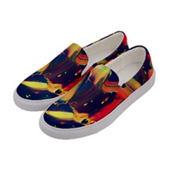 Abstract Acryl Art Women s Canvas Slip Ons by tarastyle