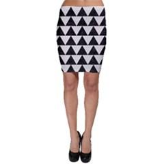 Triangle2 Black Marble & White Linen Bodycon Skirt by trendistuff