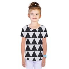 Triangle2 Black Marble & White Linen Kids  One Piece Tee by trendistuff