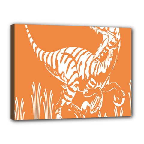 Animals Dinosaur Ancient Times Canvas 16  X 12  by Mariart