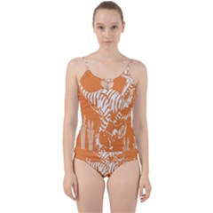 Animals Dinosaur Ancient Times Cut Out Top Tankini Set