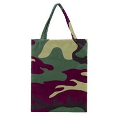 Camuflage Flag Green Purple Grey Classic Tote Bag