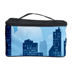 City Building Blue Sky Cosmetic Storage Case by Mariart