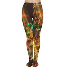 Christmas Tree Light Color Night Women s Tights by Mariart