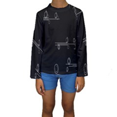 Feedback Loops Motion Graphics Piece Kids  Long Sleeve Swimwear