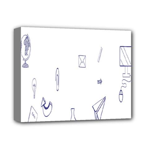 Formulas Laboratories Formulas Mathematics Chemistry Blue Deluxe Canvas 14  X 11  by Mariart